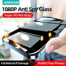 Joyroom protection d'écran privée pour iPhone 12 Pro Max Mini Film en verre trempé Anti espion couverture complète pour Apple 11 X XS MAX XR