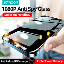 Joyroom privacidade protetor de tela para iphone 12 pro max mini anti spy vidro temperado filme cobertura completa para apple 11 x xs max xr