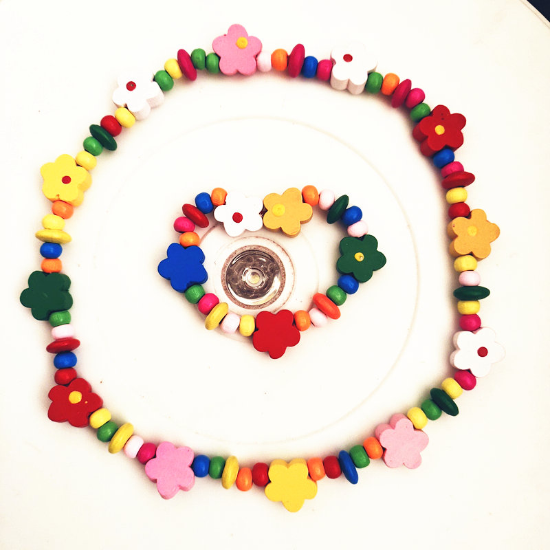 Купить новое ожерелье с подсолнухами комплект из деревянного ожерелья