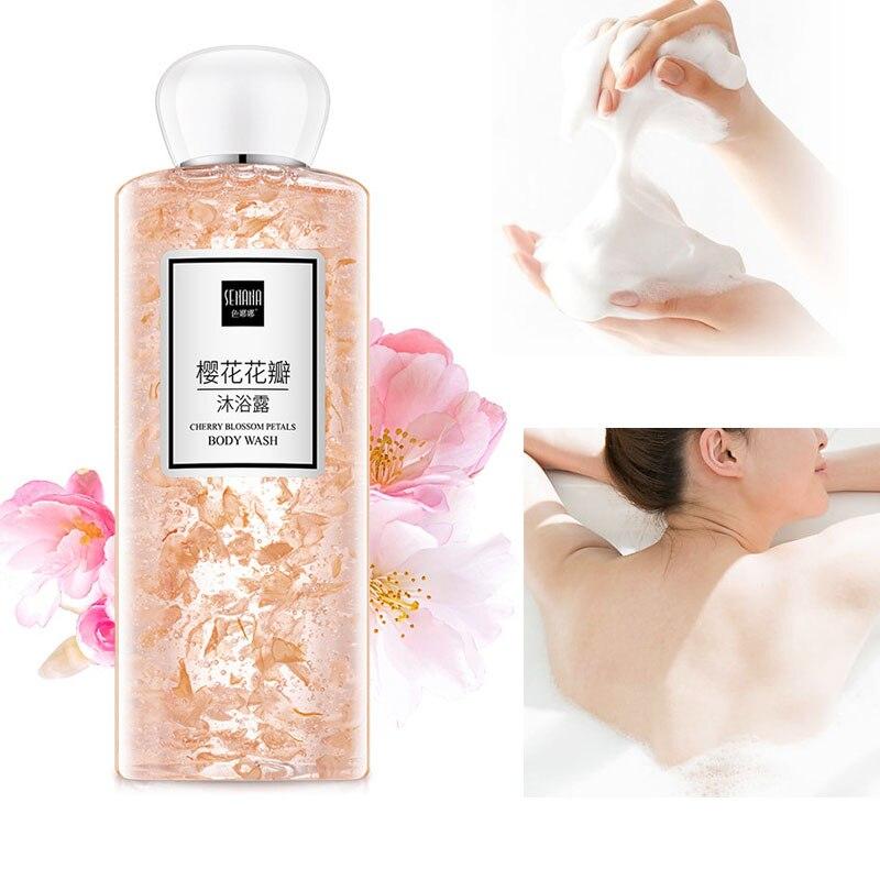 Shower Gel 250ml Female Body Wash Lotion Bath Cherry Blossom Essence Male Skin Care Whitening Moisturizing Nourishing Fragrant M