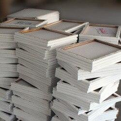 Venta caliente de la tienda de Hongye 50*60 lona estirada de algodón puro al por mayor de la galería de estudio de los estudiantes del marco de la pintura al óleo del paño de propileno