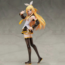 26CM Anime figures Kagamine Rin Adult Hatsune Miku Painted Figure Toy Luka PVC Action Figure Sexy Beautiful Girls Toys for gift megurine luka kimono ver anime figure toy collection 25cm hatsune miku model figures toys gift with box f7020