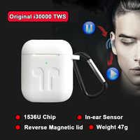 New i30000 TWS Arie 2 In-ear Sensor Check Wireless Earphone 8D Super Bass Bluetooth 5.0 Earbuds pk h1 Chip i2000 i5000 i9000 tws