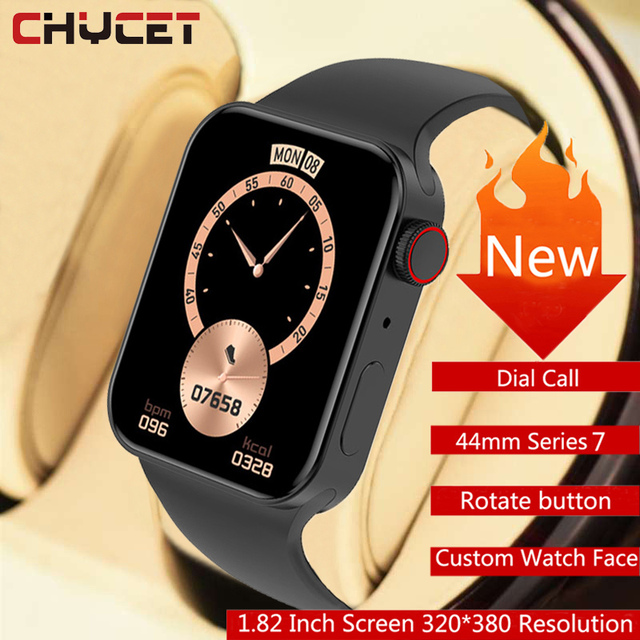 CHYCET Original IWO Series 7 Smart Watch Men 1.82 Inch HD Screen Dial call Smartwatch Women Heart Rate Monitor Watch PK HW22 W46 1