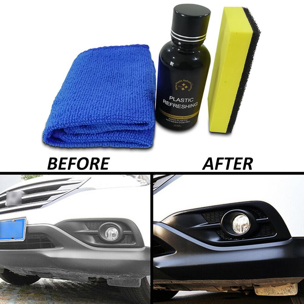 SALE 30ml Car Plastic Parts Retreading Agent Instrument Panel Agent Automotive Interior Plastic Part Retreading Cleaning Agent