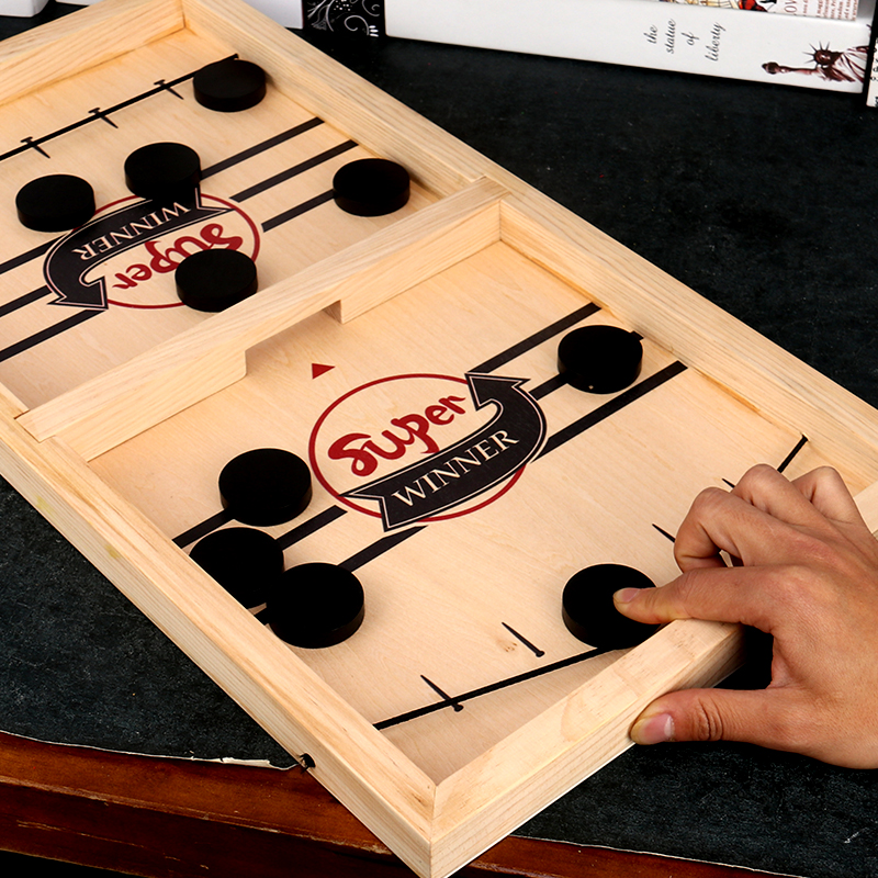Juegos De Mesa Board-Game Fast Hockey Sling Puck Game Paced Sling Puck Winner Fun Toys Juego Indoor Table Game image