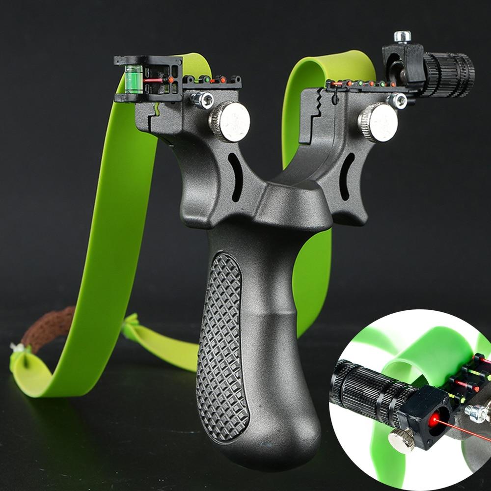 Fronde Laser avec bande en caoutchouc, haute précision, 98K, catapulte de tir puissante pour jeu de chasse en plein air 1