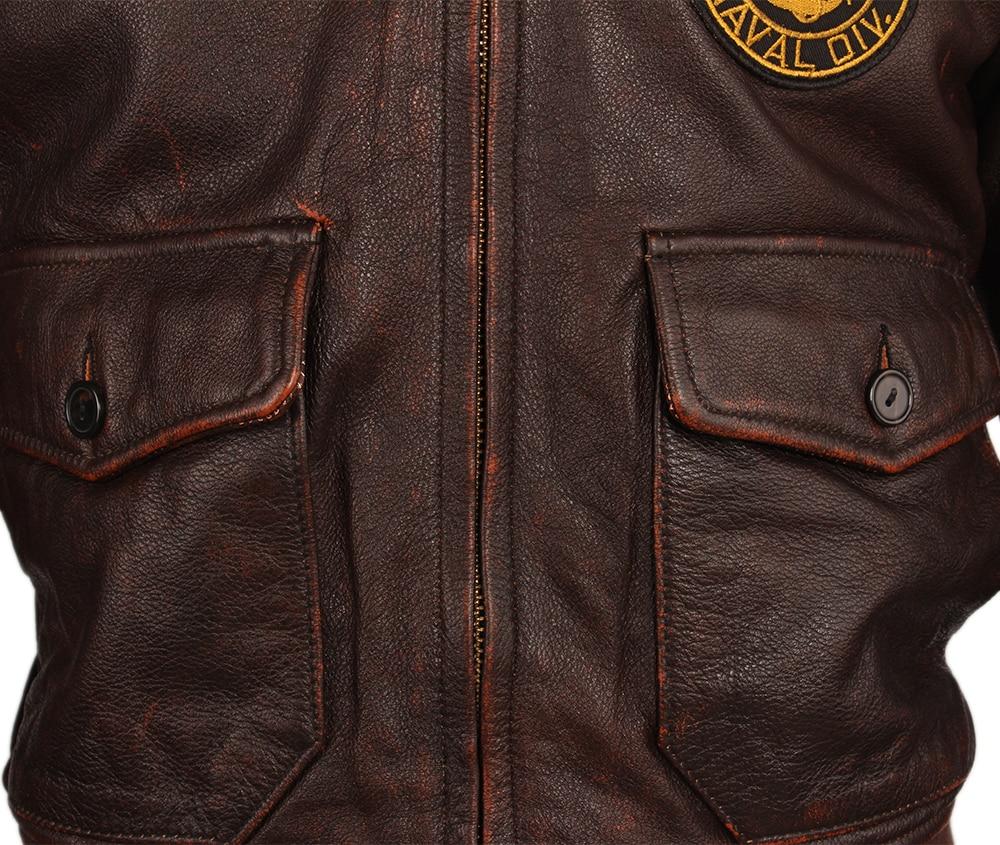 H566f09ba73964380bf8c9c9fb0e467e80 Vintage Distressed Men Leather Jacket Quilted Fur Collar 100% Calfskin Flight Jacket Men's Leather Jacket Man Winter Coat M253