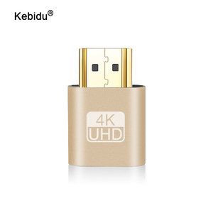 kebidu Hot Sale VGA Virtual Plug HDMI Dummy Adapter Virtual Display Emulator Adapter DDC Edid Support 1920x1080P For Video New