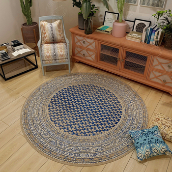 Bedroom Rugs And Carpets Study Coffee Table Area Rug Large size Decor Floor Mats Persian Style Round Carpets For Living Room фото