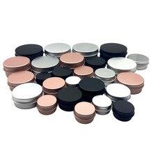 Bote de crema de estaño para labios cosméticos recipientes para bálsamo, para manualidades, botella rellenable, rosca de aluminio vacía, 10 Uds.
