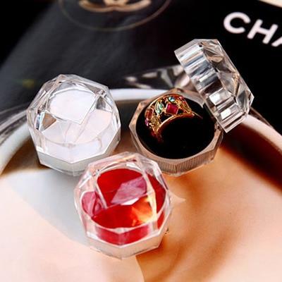 Acrylic Transparent Box Ring Jewlery Box Earrings Box Hot Selling