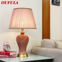 Керамические настольные лампы oufula роскошсветильник розовые