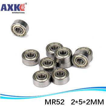 10 SMR52 2x5x2 Stainless Steel Open 2mm//5mm//2mm Deep Groove Radial Ball Bearings