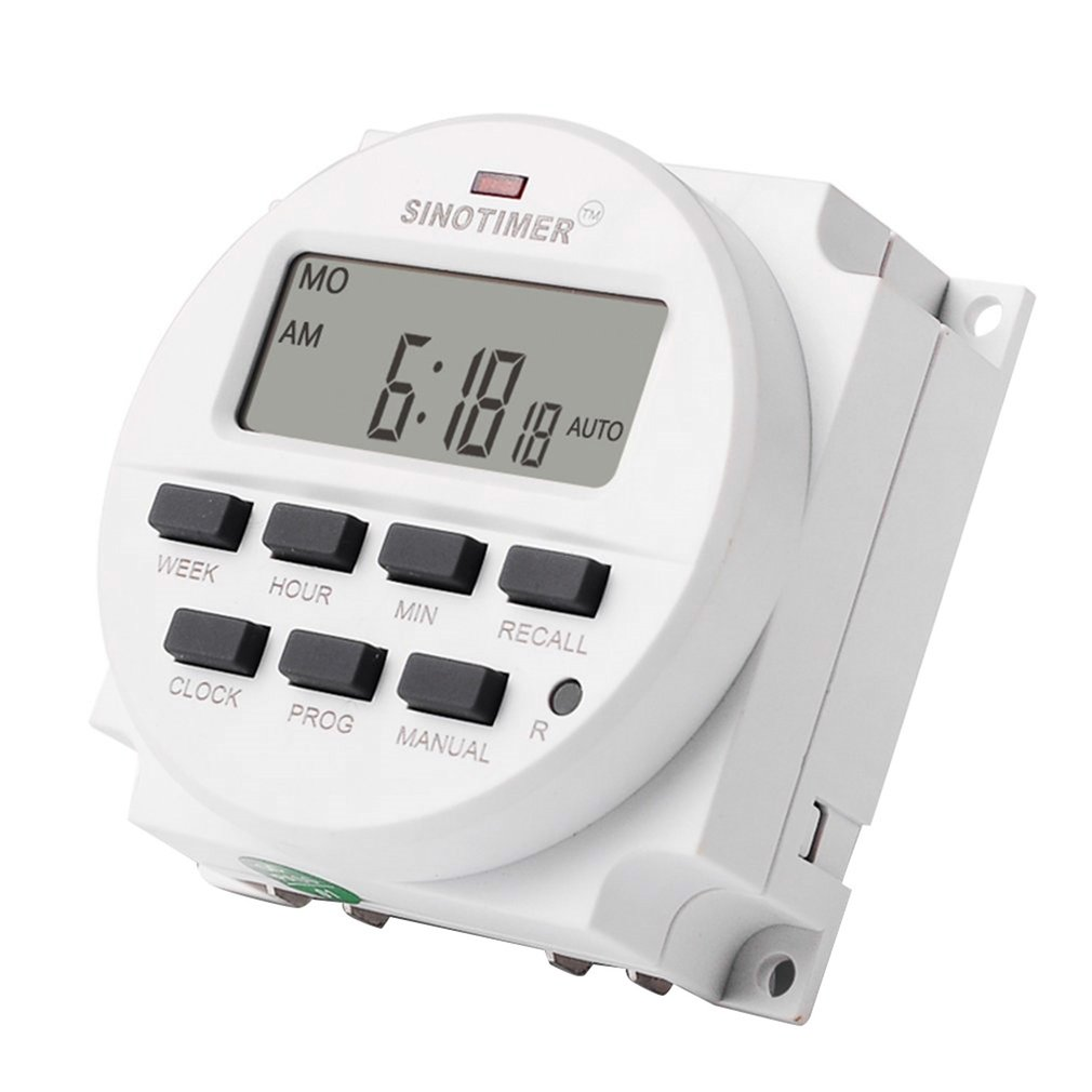 SINOTIMER TM618N-2 220V LCD Digital AC Programmable Timer Switch With UL Listed Relay Inside With Countdown Time Function