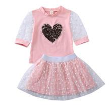 Модная одежда для маленьких девочек от aa топ с блестками и