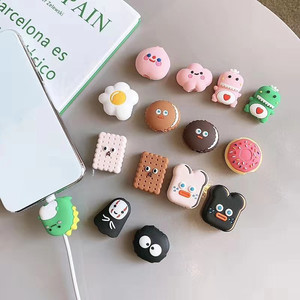 Korean Cute Cartoon Animal Cable Protector for Iphone Usb Cable Bite Chompers Holder Charger Wire Organizer Phone Accessories