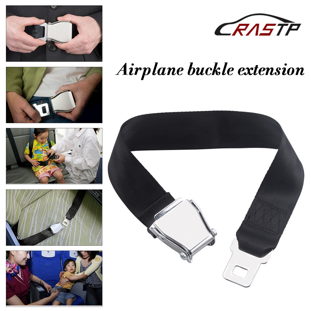 RASTP-Universal 63CM Adjustable Aircraft Airplane Safe Seat Belt Extension Extender Buckle RS-BAG033 image