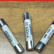 10 шт./лот Новый керамический предохранитель 6,3x32 мм 7012540 FF 630mA AC 700V