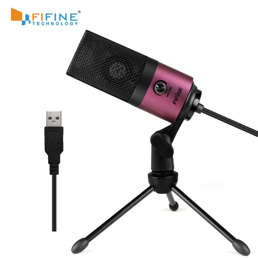 FIFINE USB Condenser Microphone For PC Laptop MAC Cardioid Studio Recording Vocals  Voice Over, YouTube