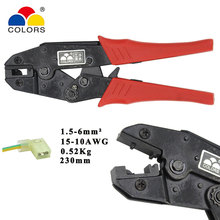 Colors HS-08FL flag type female receptacles terminal crimping pliers hand tool non-insulated sign male terminal crimping alicate 50pcs crimping type non insulated pipe bare terminal connector for 18awg wire page 3