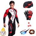 Mens Radfahren Jersey Sets Langarm Winter Thermische Fleece Fahrrad Kleidung Männer Pro Team Mountainbike Kleidung Reiten Sport Tragen