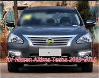 1 par carro led drl luzes diurnas para nissan altima teana 2013 2014 2015 lâmpada pára-choques luz de nevoeiro capa estilo condução