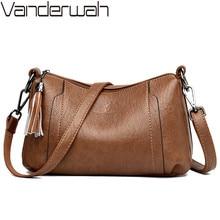 цена на Vintage Women Messenger Bags Small Crossbody Bags For Women Designer Leather Handbags Famous Brands Luxury Female Shoulder Bag