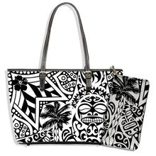 Женская сумка на плечо twoheart sgirl, модная повседневная дорожная сумка в винтажном полинезийском стиле, сумка-тоут на плечо