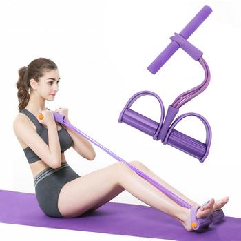 4 rury taśmy oporowe elastyczne liny do ciągnięcia Rower do ćwiczeń brzuch domowa siłownia trening sportowy gumka na sprzęt do ćwiczeń tanie i dobre opinie Unisex CN (pochodzenie) Talii i brzucha ćwiczenia Pedał ćwicząca XY0008
