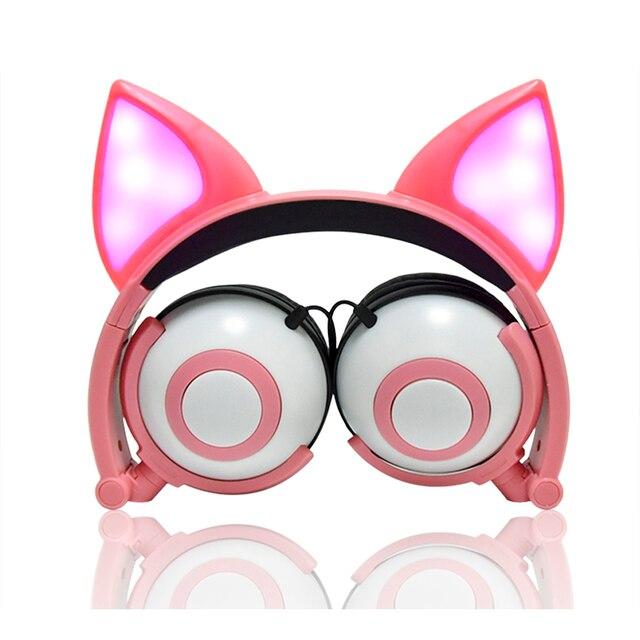 LIMSON kablolu sevimli hayvan tilki kedi kulak kulaklık katlanabilir yetiştirme çocuk kulaklıklar hediye erkek ve kız için