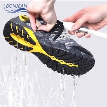 Summer Hiking Shoes Men Quick Dry Waterproof Mesh Beach Outdoor Sandals Man Trekking Trail Footwear