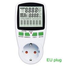 Digital LCD Energy Meter Wattmeter Leistung Strom Kwh Power Meter EU Französisch US UK AU Stecker Mess Outlet Power Analyzer