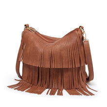 Tide Bag Women Shoulder Tassel Bag Sac A Main Crossbody Bags For Women Luxury Bag Female PU Leather Vintage Bolsos Mujer(China)