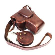 Funda de cuero PU para cámara Nikon D3200, D3100, D3400, D3300, 18 55mm, carcasa DSLR para lente con apertura inferior de batería