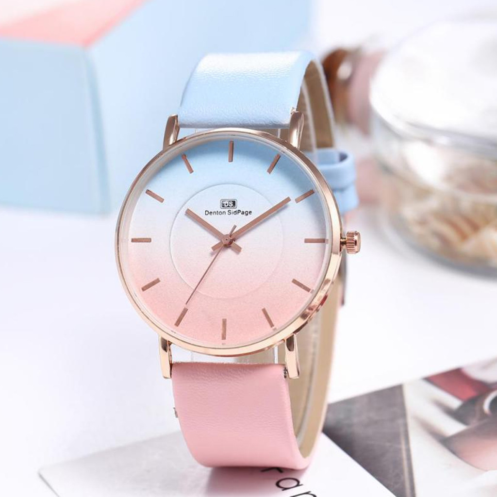 Reloj Mujer hot luxury ladies wristwatch starry sky solid leather color watches women alloy analog Quartz black relogio