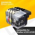 4 шт. совместимые чернильные картриджи для brother LC539 LC535 LC539XL DCP-J100 DCP-J105 принтеры для brother LC539 LC535 XL
