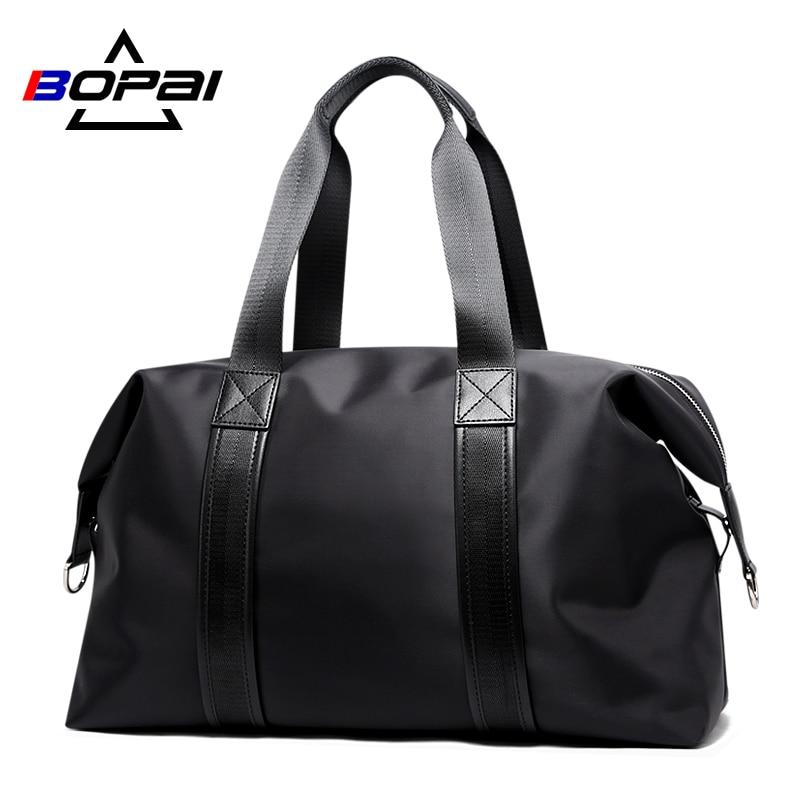 BOPAI – sac de voyage grande capacité pour hommes, fourre-tout de voyage, de voyage, de voyage, de voyage, de week-end, à bandoulière