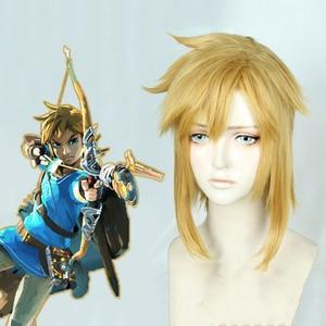Image 3 - The Legend of Zelda: peluca Cosplay de la princesa Zelda Link, of The Wild Breath, rubia larga, disfraz de Cosplay del pelo, gorra de peluca gratis