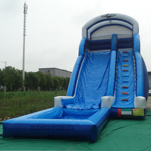 цена на Outdoor Kids Adult Inflatable Water Slide with Pool Amusement Park Commercial PVC Inflatable Slide