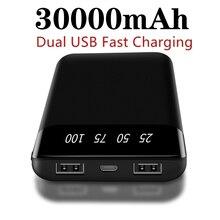 Xiaomi power Bank 30000 мАч Внешний аккумулятор для мобильного телефона портативное быстрое зарядное устройство для всех смартфонов зарядное устройство водонепроницаемый
