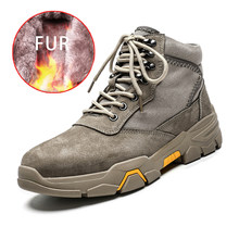 Hot Koop Mannen Winter Warme Snowboots Waterdichte Laarzen Mannen Pluche Lace Up Footwear Ankle Mannelijke Casual Schoenen Outdoor Fashion big Size(China)