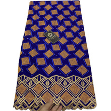 7 色高品質のスイスボイルレース生地エレガントな刺繍アフリカの綿レースの生地 CLL037