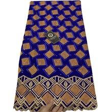 7 cores de Alta qualidade Suíça voile da tela do laço elegante bordado algodão Africano tecido de renda para o vestido de festa CLL037