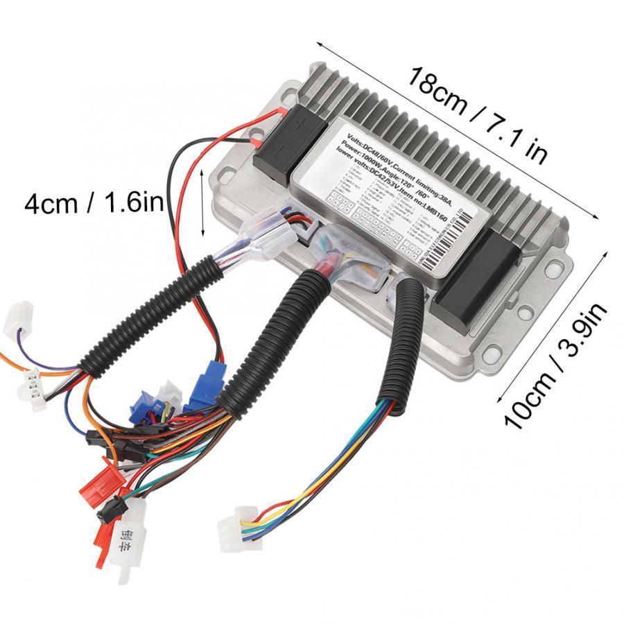 1000W Brushless Controller Sine Waves 36V-48V Universal 3 Mode Cast Shells