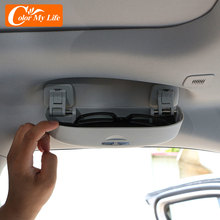 Color My Life ABS Car Sunglasses Case Holder Glasses Box Storage Boxes for Jeep Compass 2th 2017 2018 2019 2020 2021 Accessories