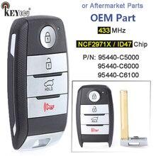 KEYECU 433.92MHz ID47 TQ8 FOB 4F06 95440 C6000 / C6100 / C5000 4 düğme anahtarsız gitmek akıllı uzaktan anahtar Fob kia Sorento 2015 20