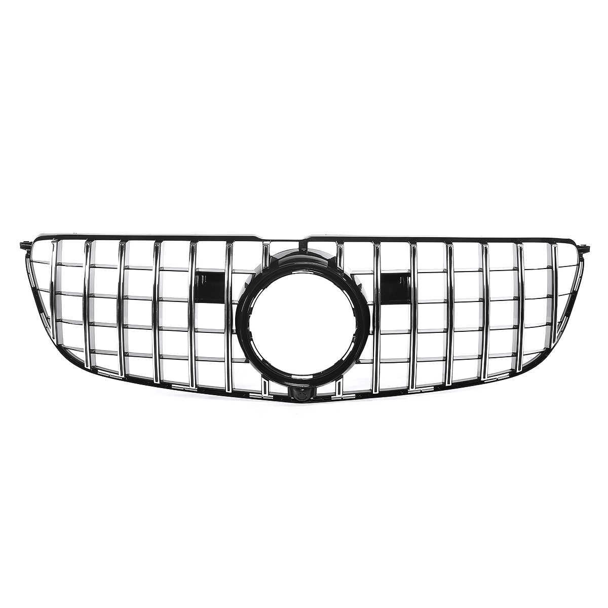Color : Black SPLLEADER Hochwertige Auto-Grill Grills Autofrontsto/ßstange Mesh for Mercedes for Benz W205 for AMG Blick C200 C250 C300 C350 2015-2018