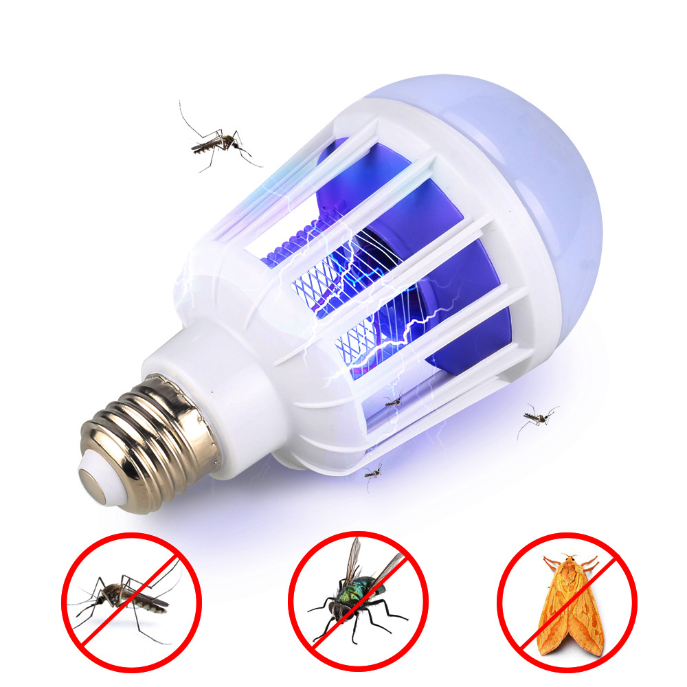 1pc Mosquito Killer Lamp E27/B22 LED Bulb Baby Bedside Light Insect Trap Lamp Mosquito Repeller Light Home Lighting Dropshipping image