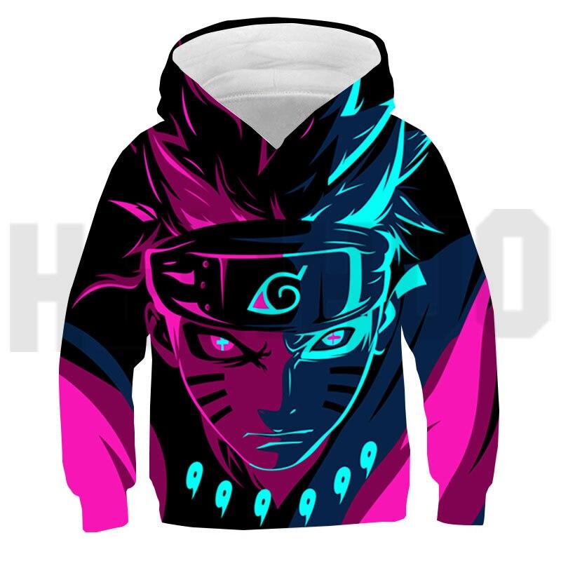 3D Cool Japanese Streetwear Hoodies Tops Children's Sweatshirt Anime Itachi Sharingan Oversized Pullover Ropa De Hombre